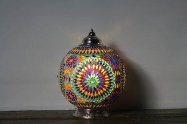 Mosaik Tisch Lampe Misbah L v3