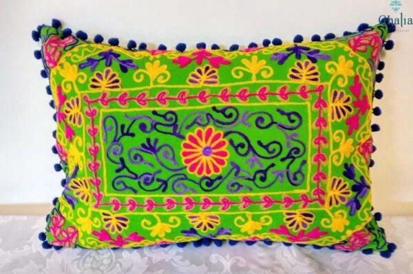 Oriental Kissen Damali Grün 50 x 35